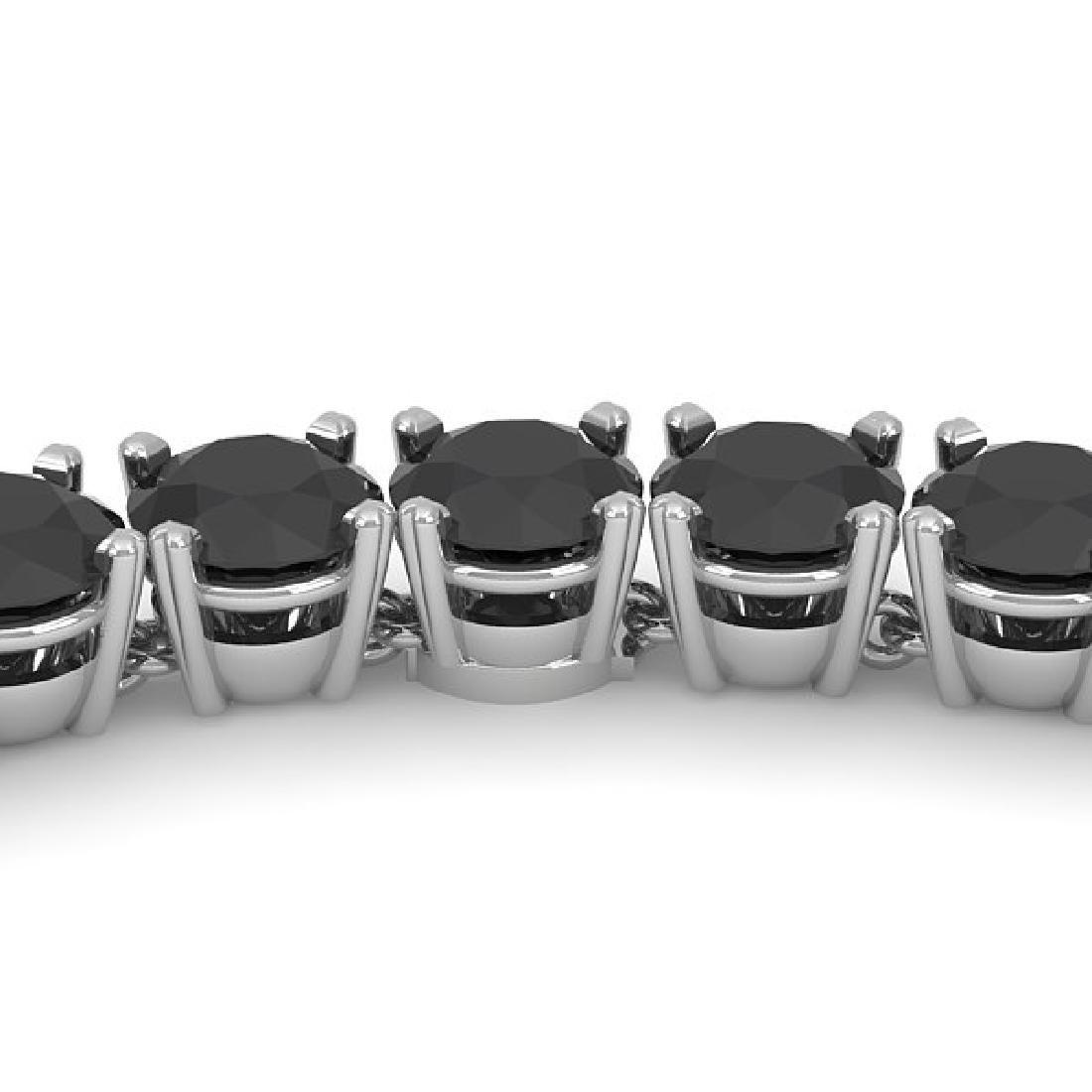 40 CTW Certified Black VS Diamond Necklace 14K White