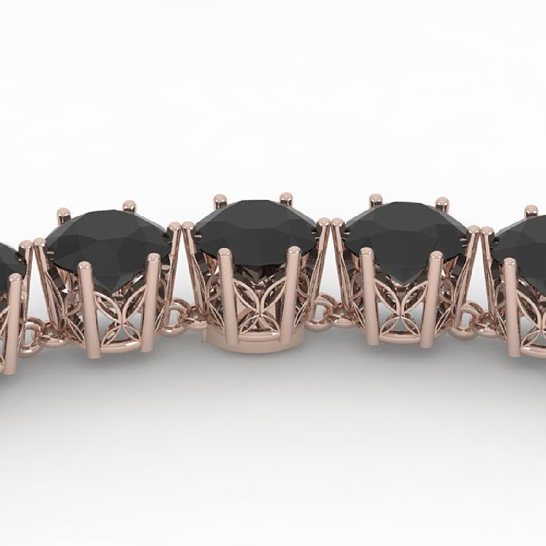 36 CTW Certified Black VS Diamond Necklace 14K Rose