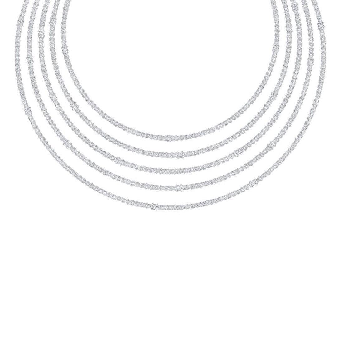 60 CTW Certified VS/SI Diamond Love Necklace 18K White