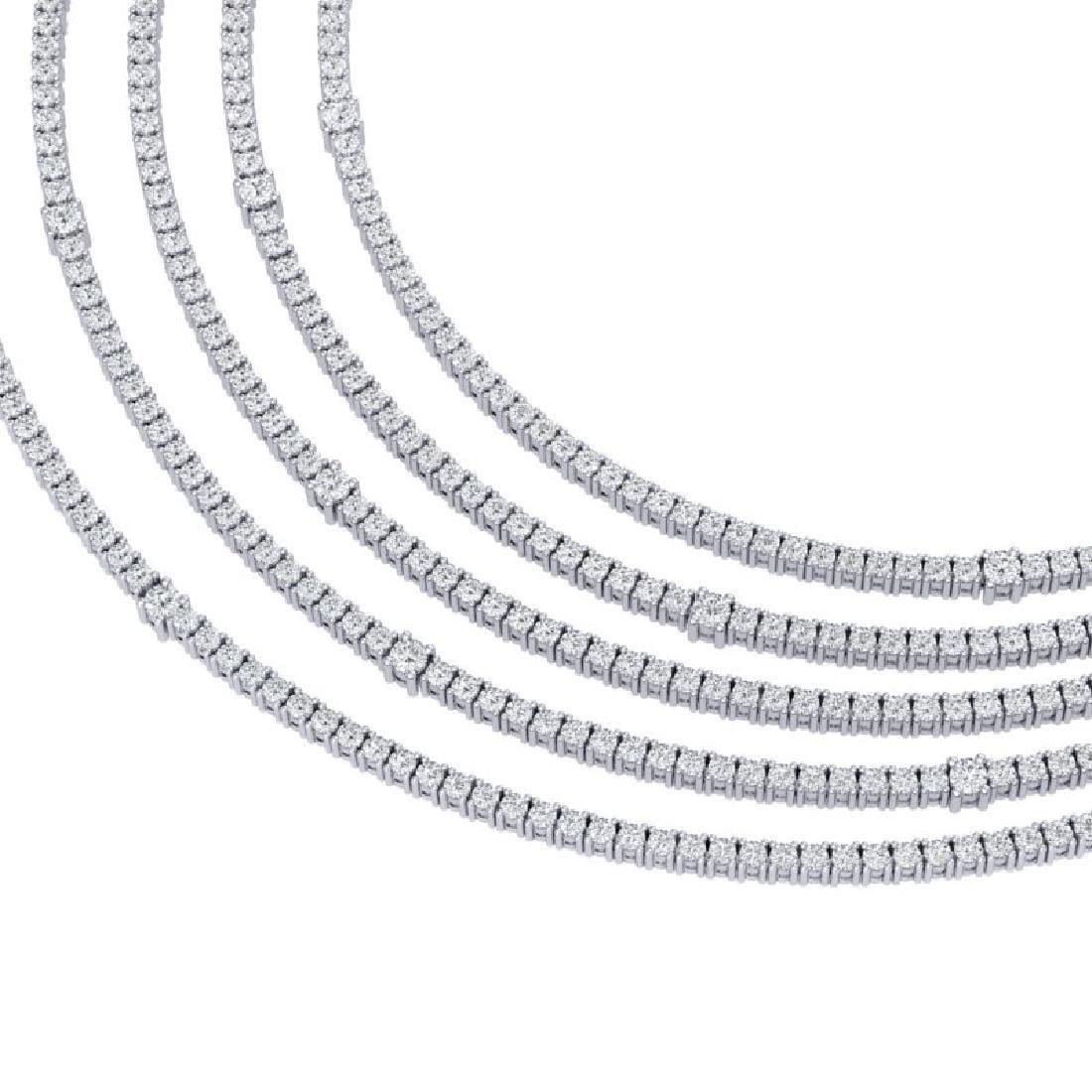 60 CTW Certified VS/SI Diamond Love Necklace 18K White - 2