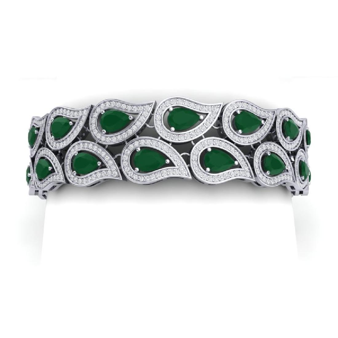 20.1 CTW Royalty Emerald & VS Diamond Bracelet 18K