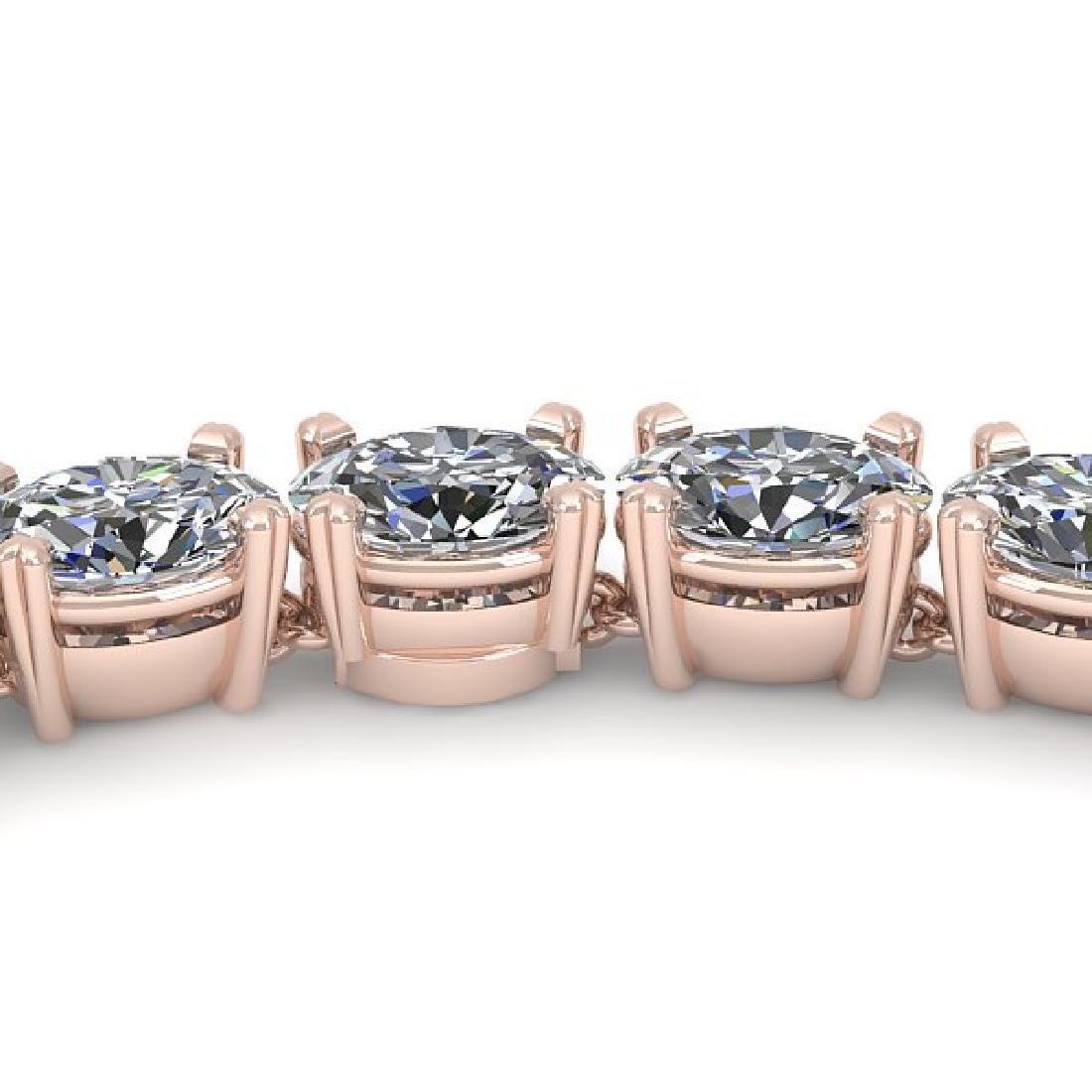 35 CTW Oval Cut Certified SI Diamond Necklace 18K Rose