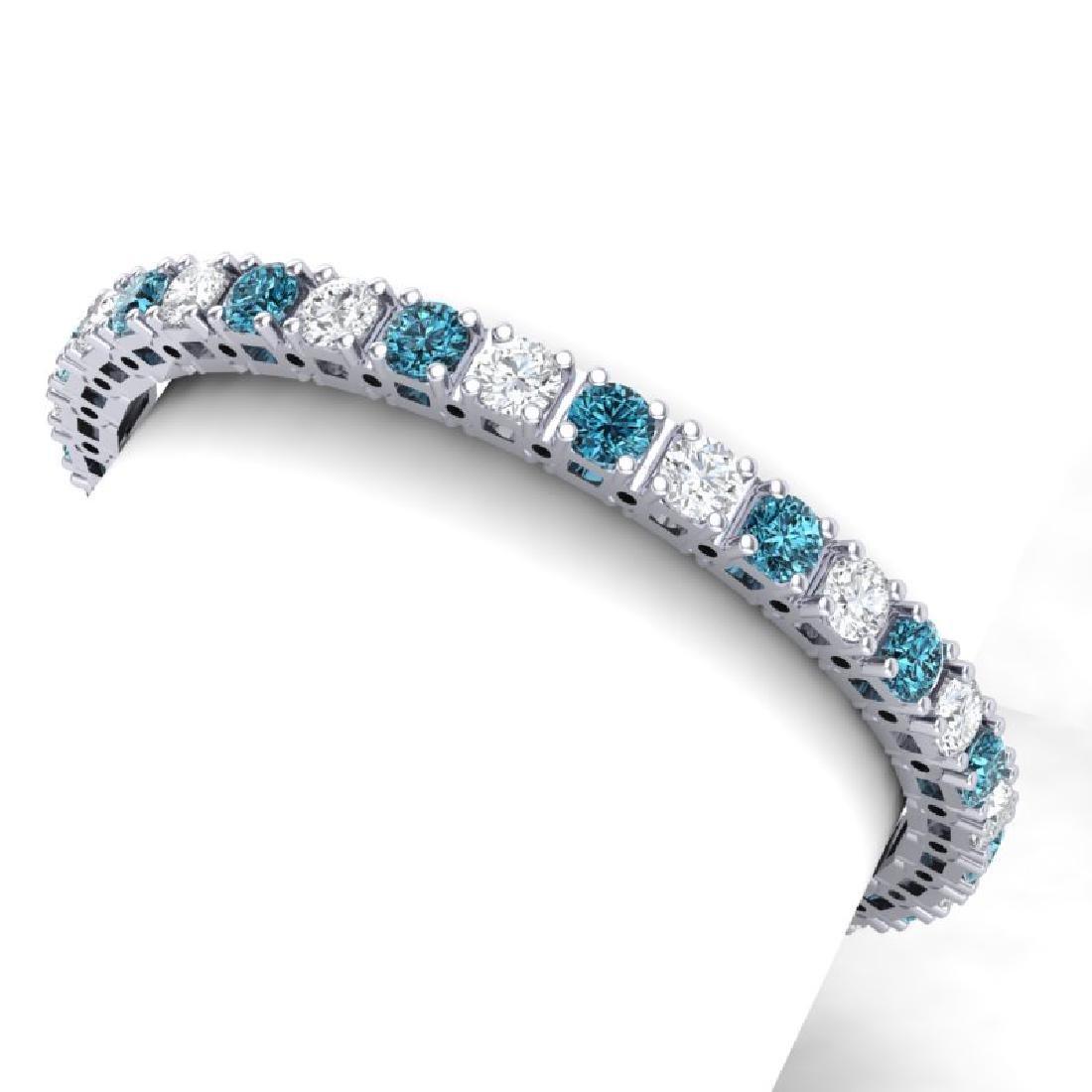 20 CTW SI/I Intense Blue & White Diamond Bracelet 18K