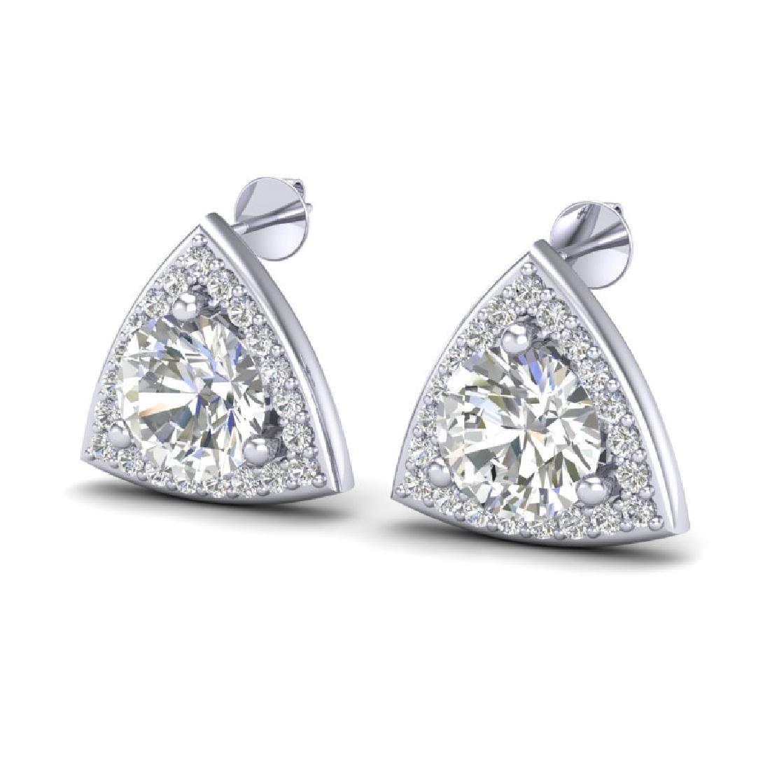 3 CTW VS/SI Diamond Stud Earrings 18K White Gold