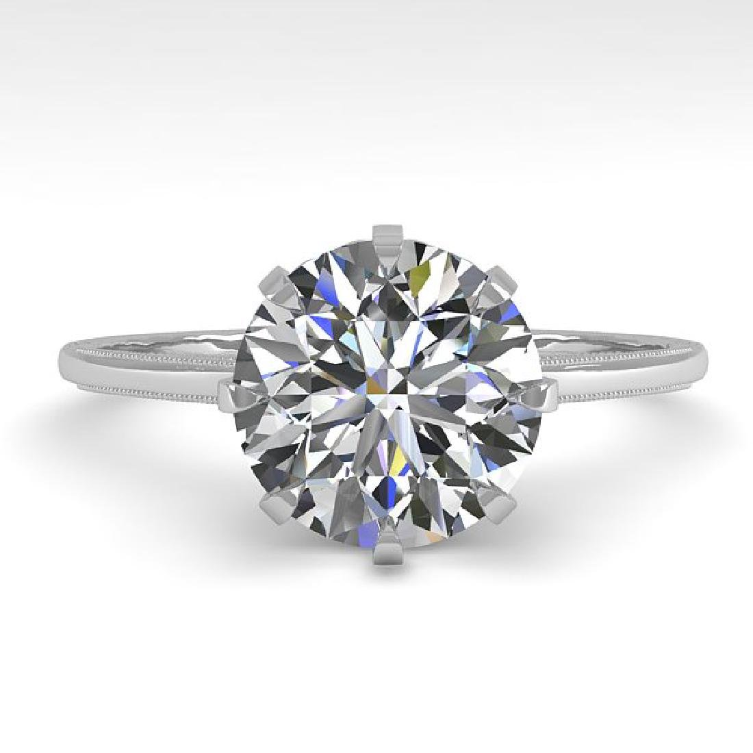 2 CTW VS/SI Diamond Solitaire Engagement Ring 14K White