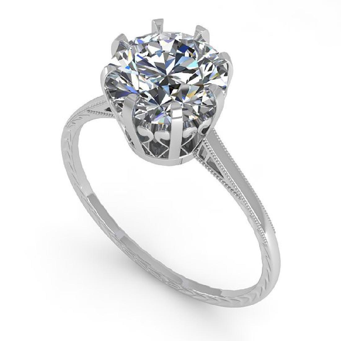 2 CTW VS/SI Diamond Solitaire Engagement Ring 14K White - 2