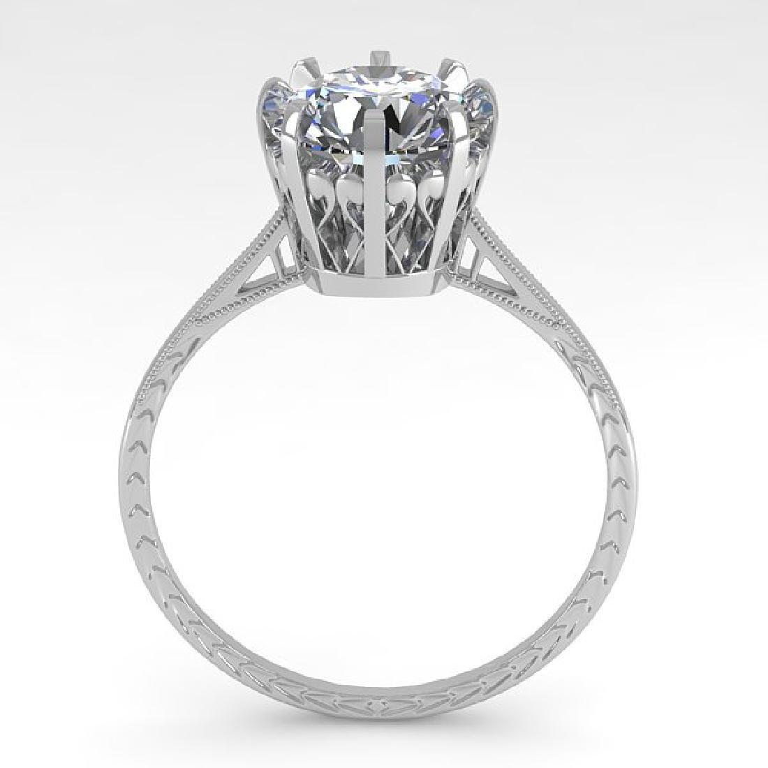 2 CTW VS/SI Diamond Solitaire Engagement Ring 14K White - 3