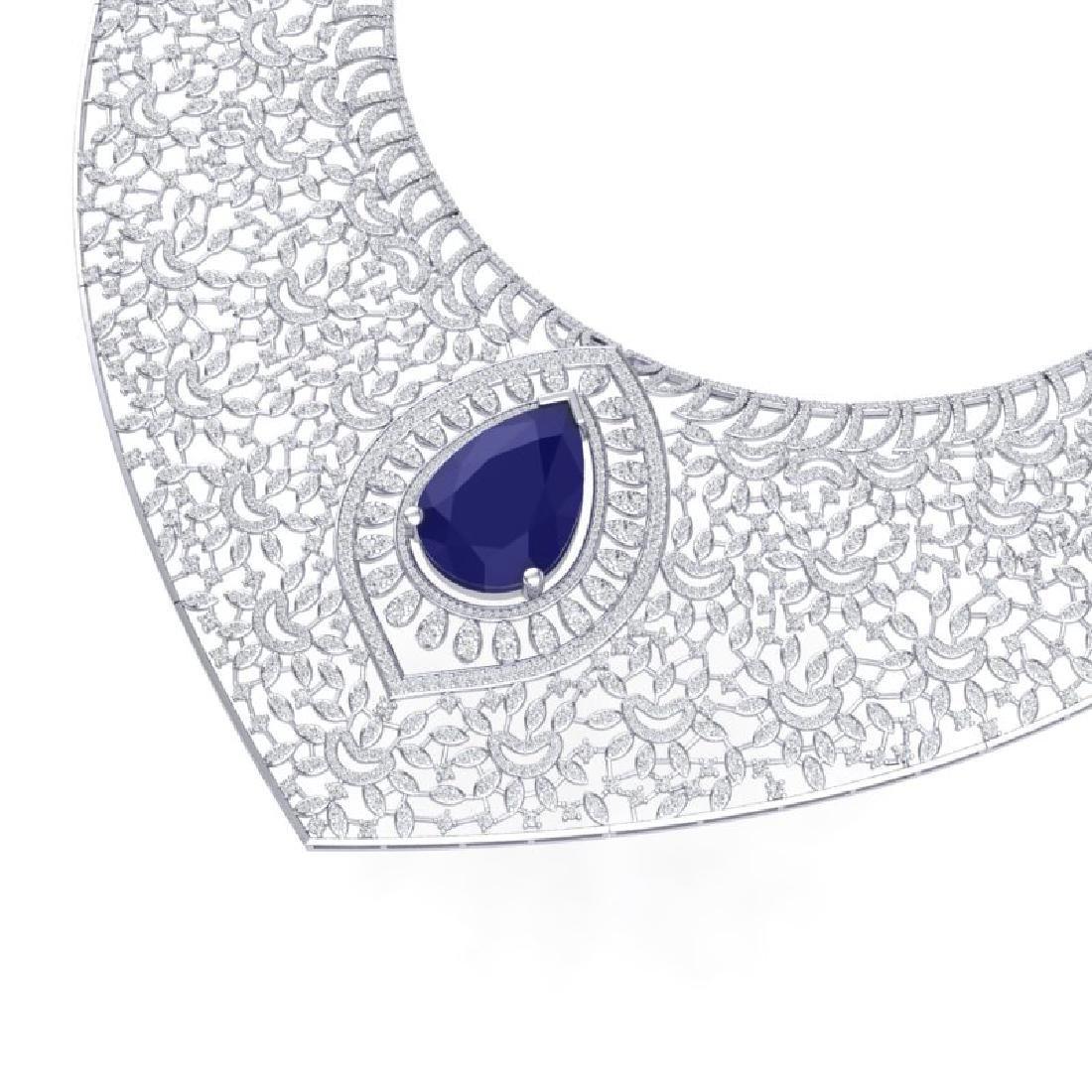 63.93 CTW Royalty Sapphire & VS Diamond Necklace 18K