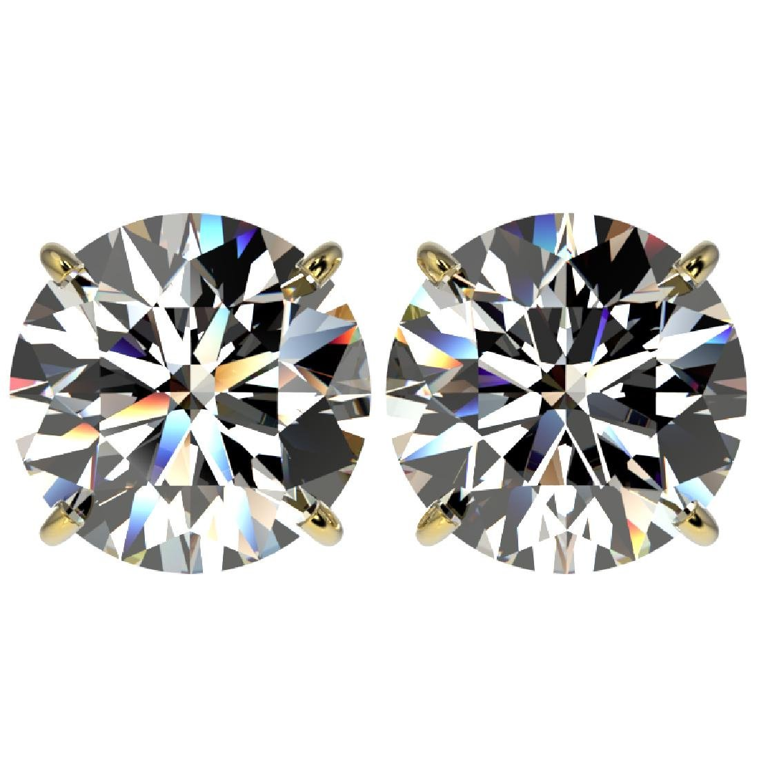 5 CTW Certified G-SI Diamond Solitaire Stud Earrings