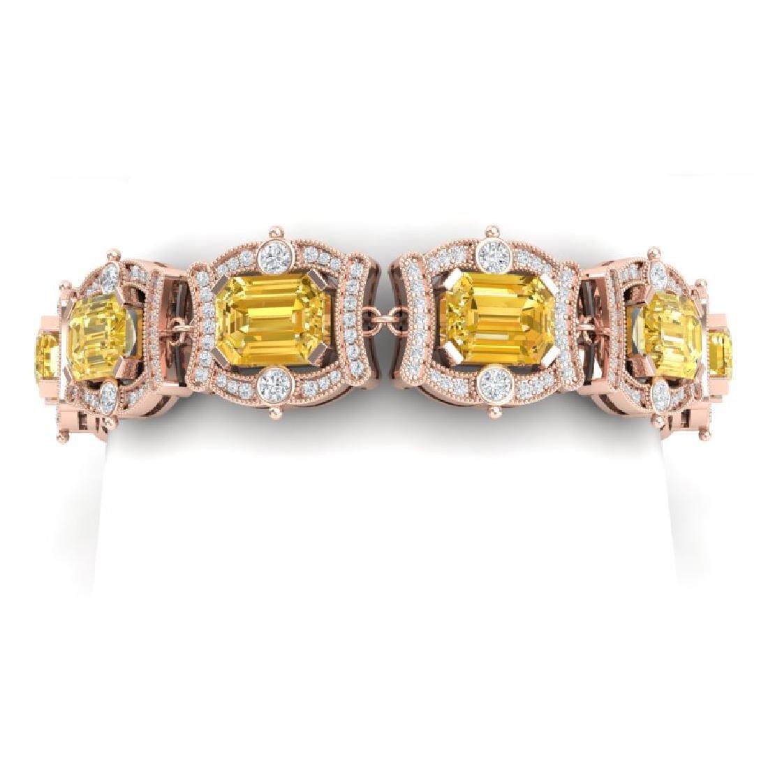 37.15 CTW Royalty Canary Citrine & VS Diamond Bracelet