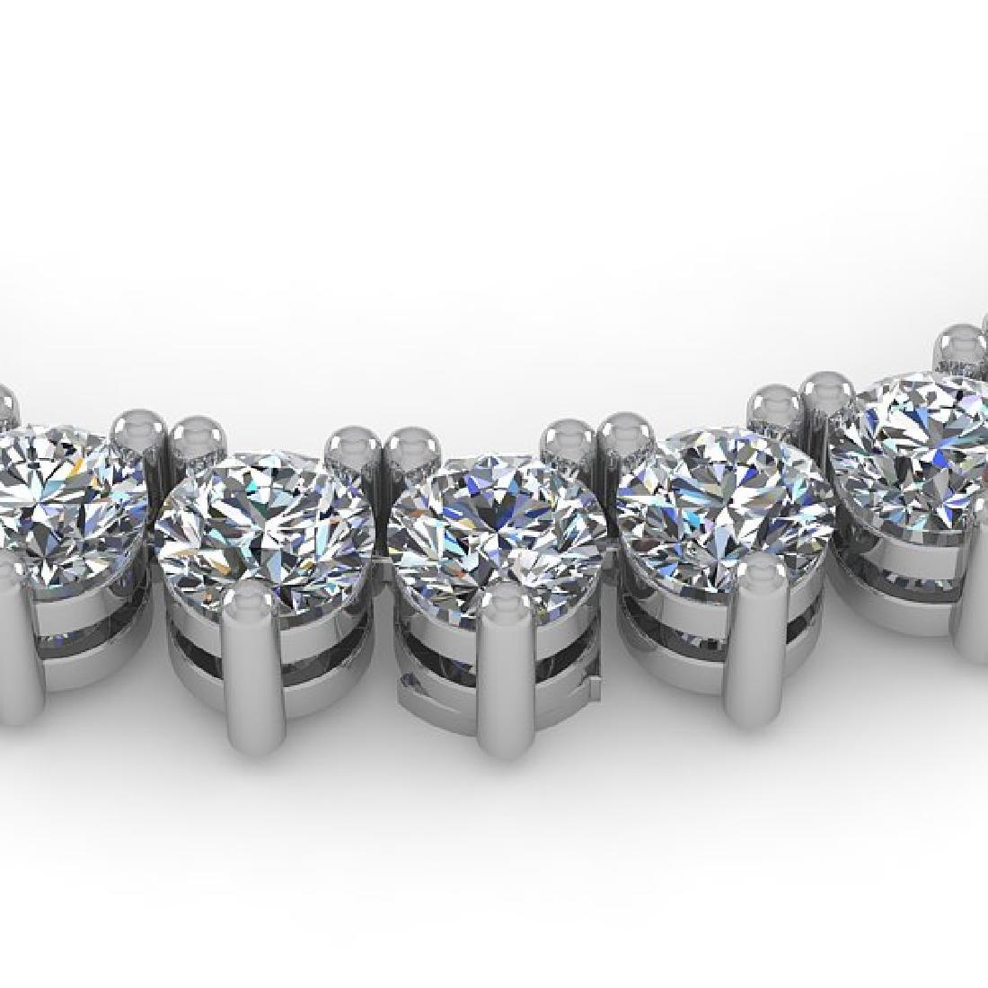 33 CTW Solitaire SI Diamond Necklace 18K White Gold