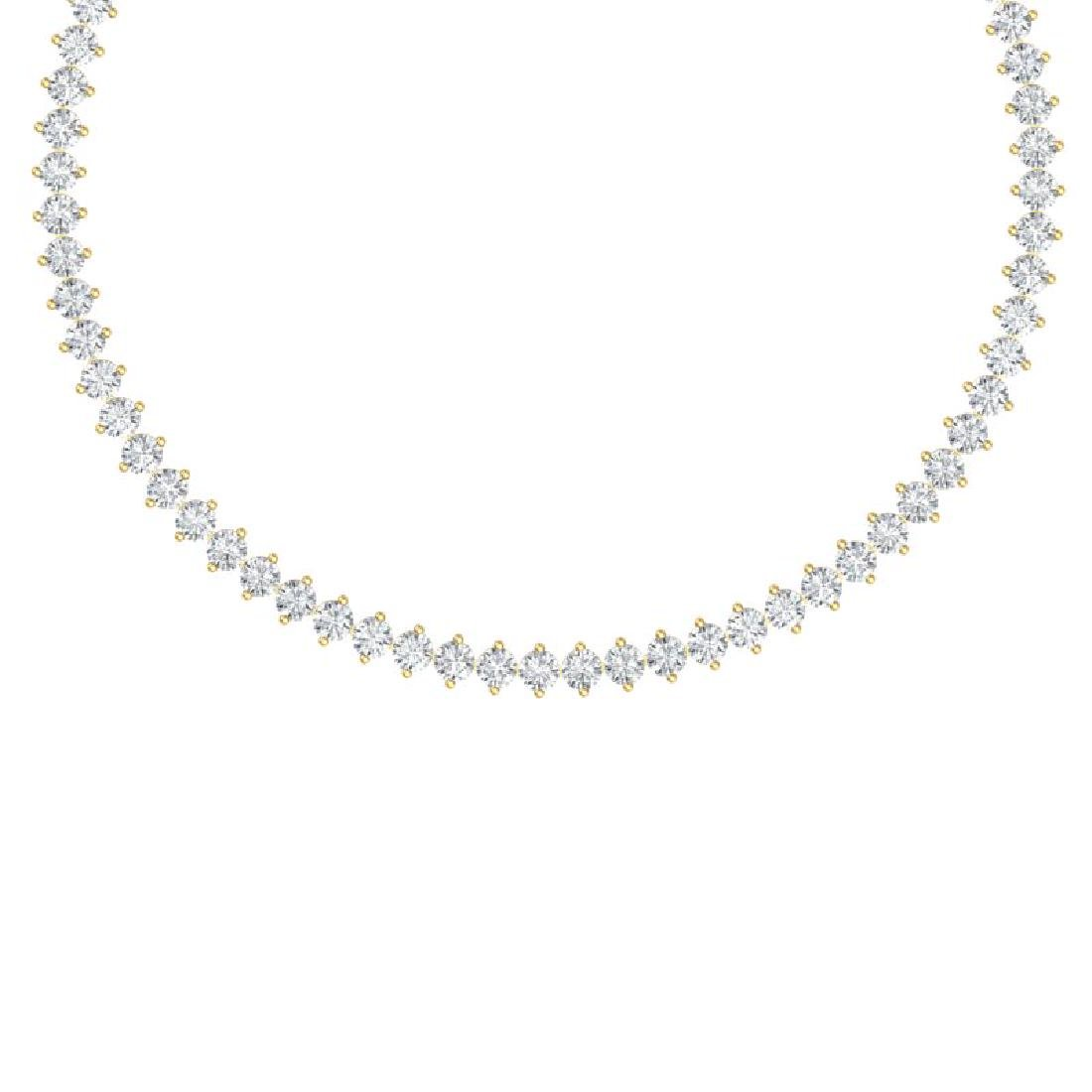 45 CTW Certified SI/I Diamond Necklace 18K Yellow Gold