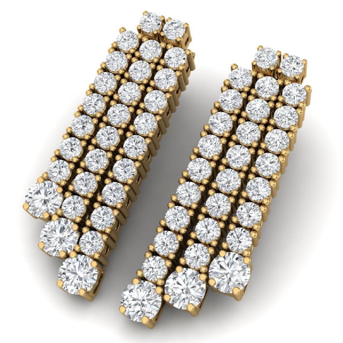 5 CTW Certified VS/SI Diamond Love Earrings 18K Yellow