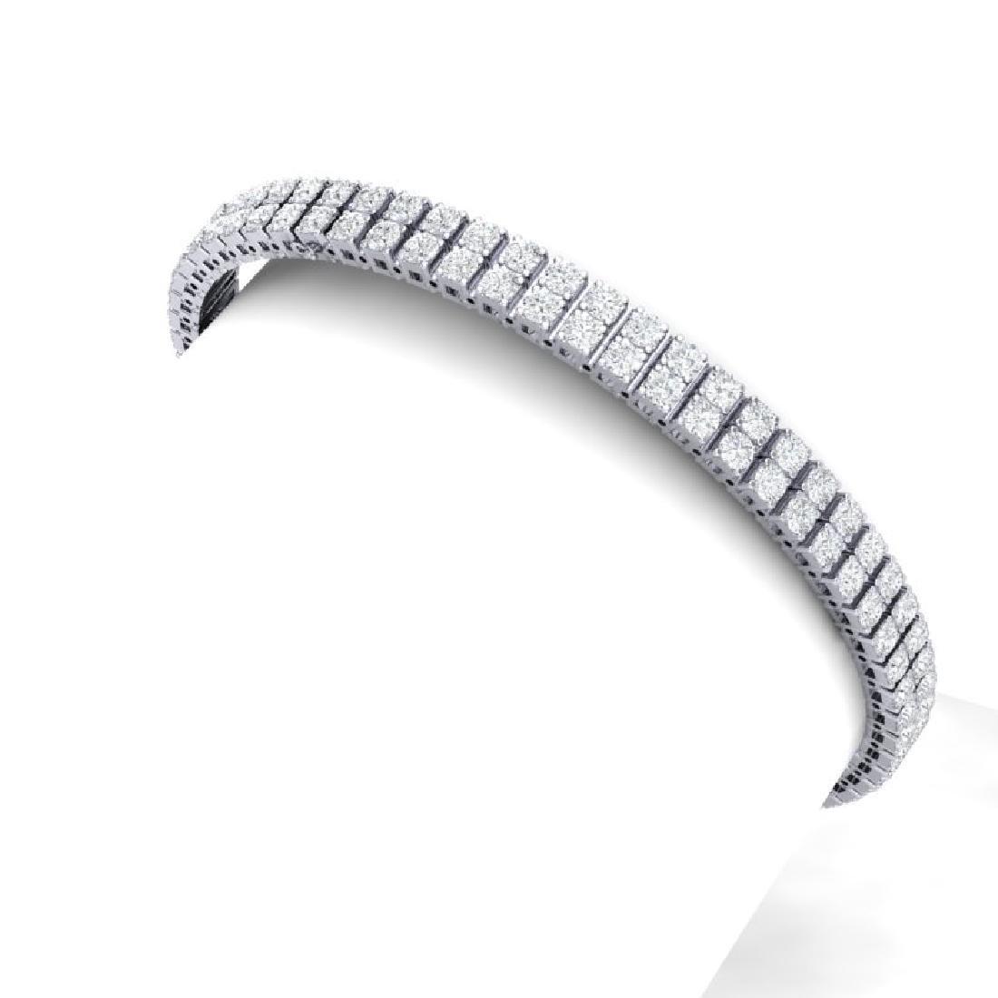 8 CTW Certified SI/I Diamond Bracelet 18K White Gold