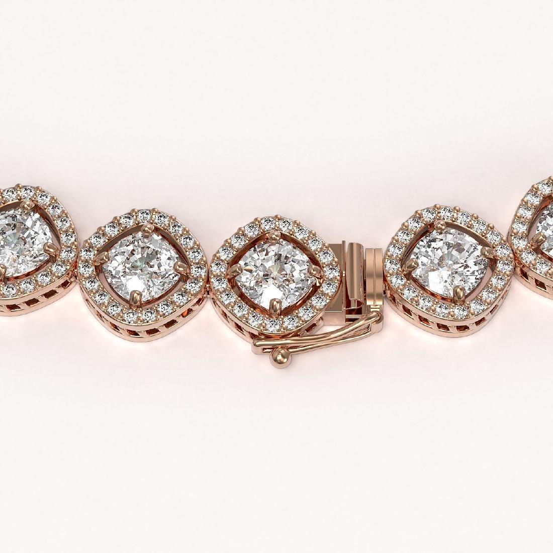 36.09 CTW Cushion Cut Diamond Designer Necklace 18K - 3