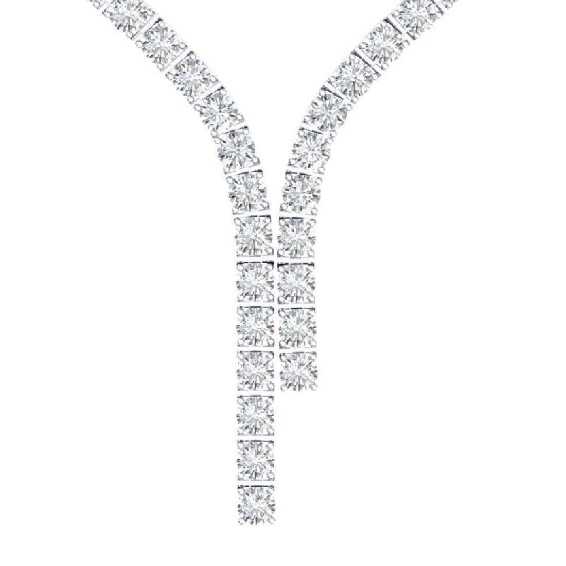 40 CTW Certified SI Diamond Necklace 18K White Gold