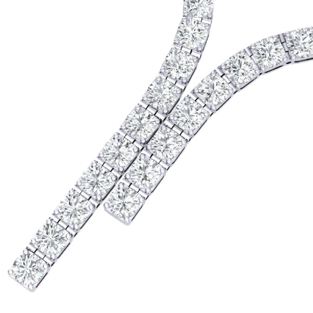 40 CTW Certified SI Diamond Necklace 18K White Gold - 2