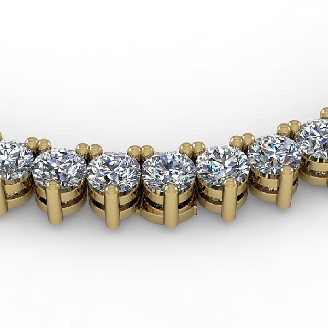 25 CTW Solitaire VS/SI Diamond Necklace 18K Yellow Gold