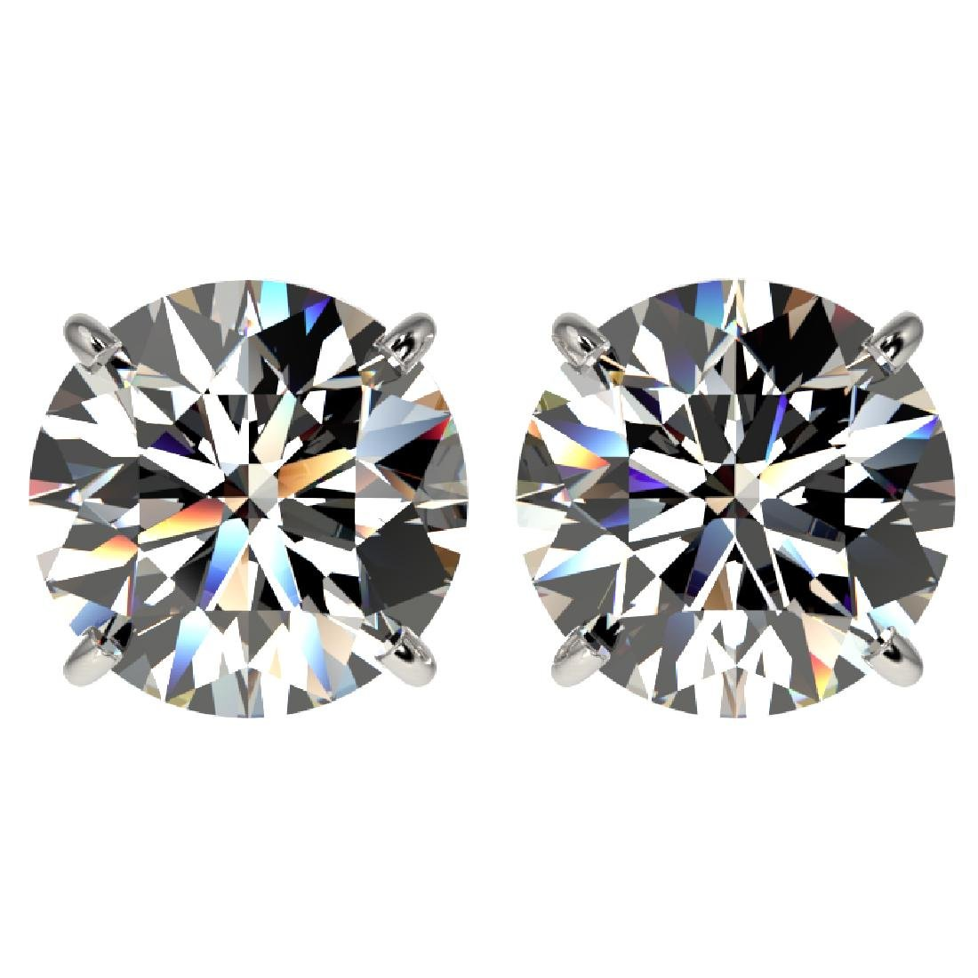 4 CTW Certified H-I Quality Diamond Solitaire Stud