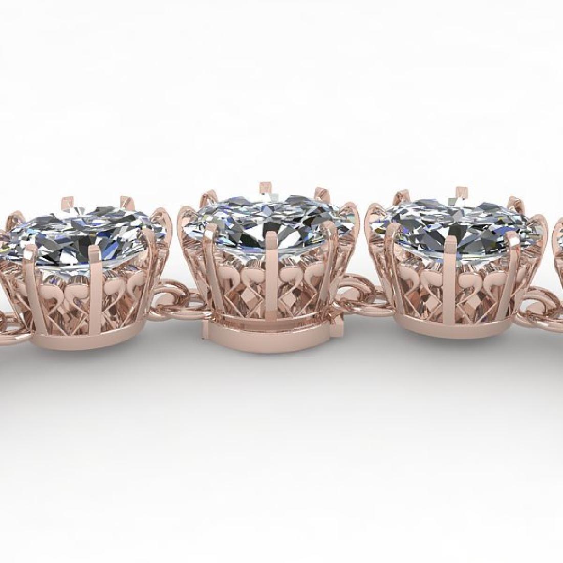 40 CTW Princess SI Certified Diamond Necklace 14K Rose