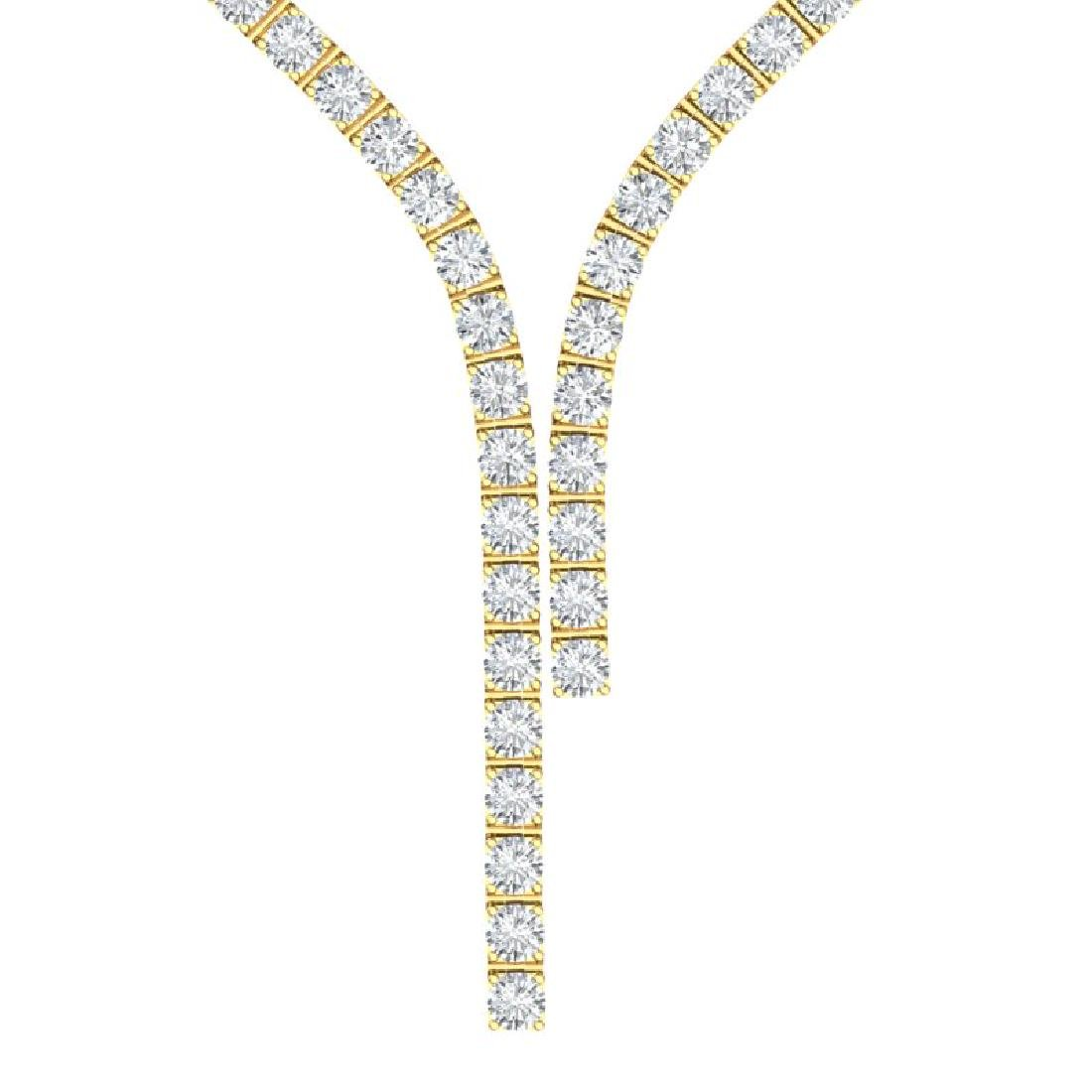 25 CTW Certified VS/SI Diamond Necklace 18K Yellow Gold