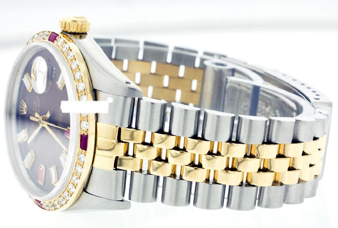 Rolex Ladies Two Tone 14K Gold/ss, Diam/Ruby Dial & - 4