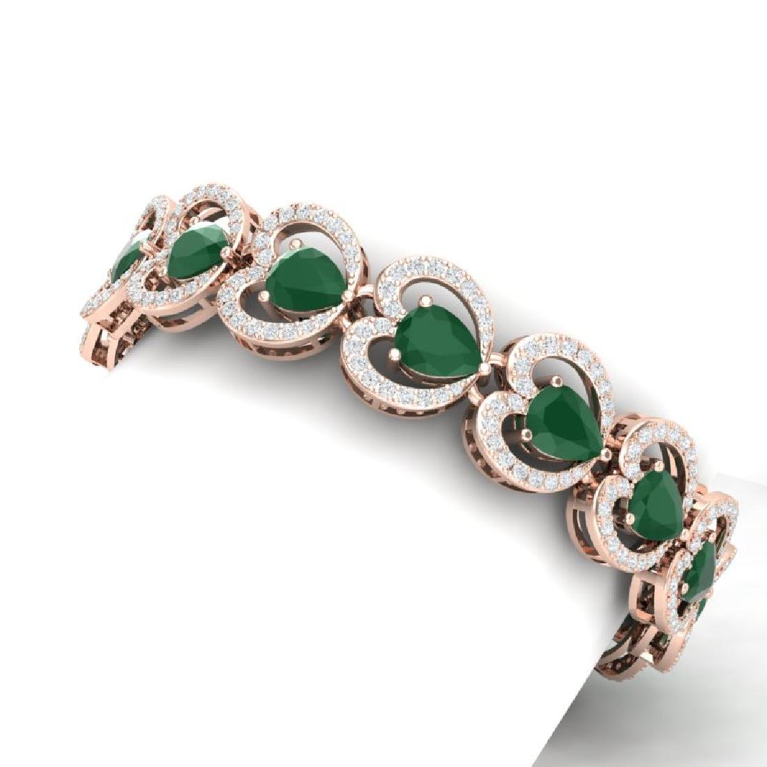 32.15 CTW Royalty Emerald & VS Diamond Bracelet 18K - 2