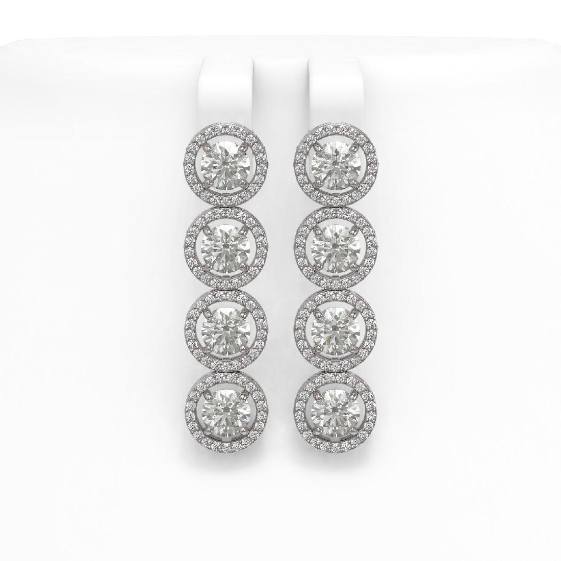 6.14 CTW Diamond Designer Earrings 18K White Gold