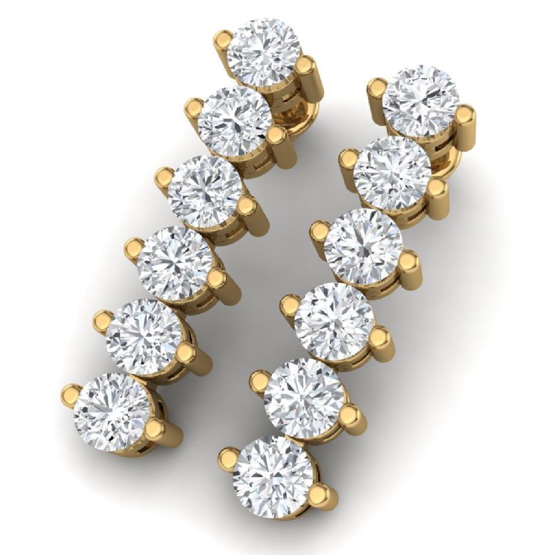 3 CTW Certified VS/SI Diamond Earrings 18K Yellow Gold