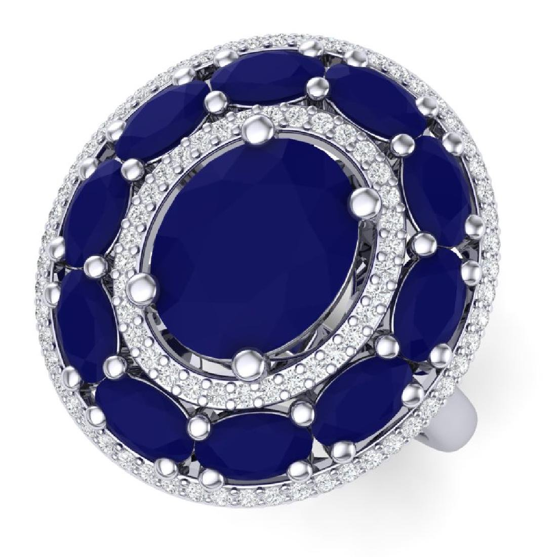 8.05 CTW Royalty Designer Sapphire & VS Diamond Ring