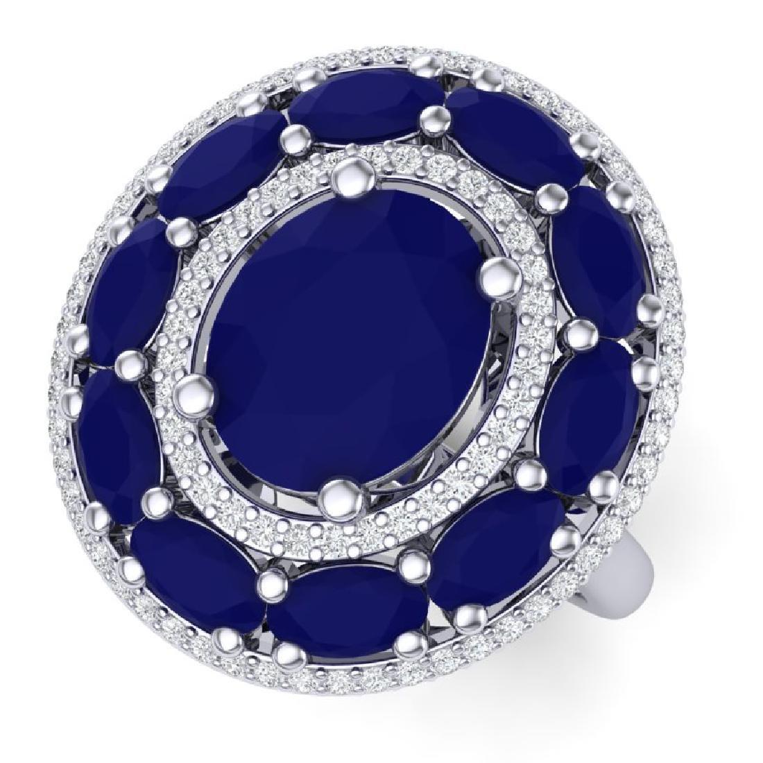 8.05 CTW Royalty Designer Sapphire & VS Diamond Ring