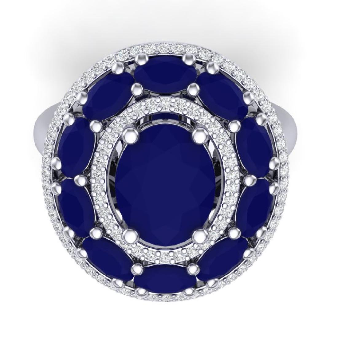 8.05 CTW Royalty Designer Sapphire & VS Diamond Ring - 2