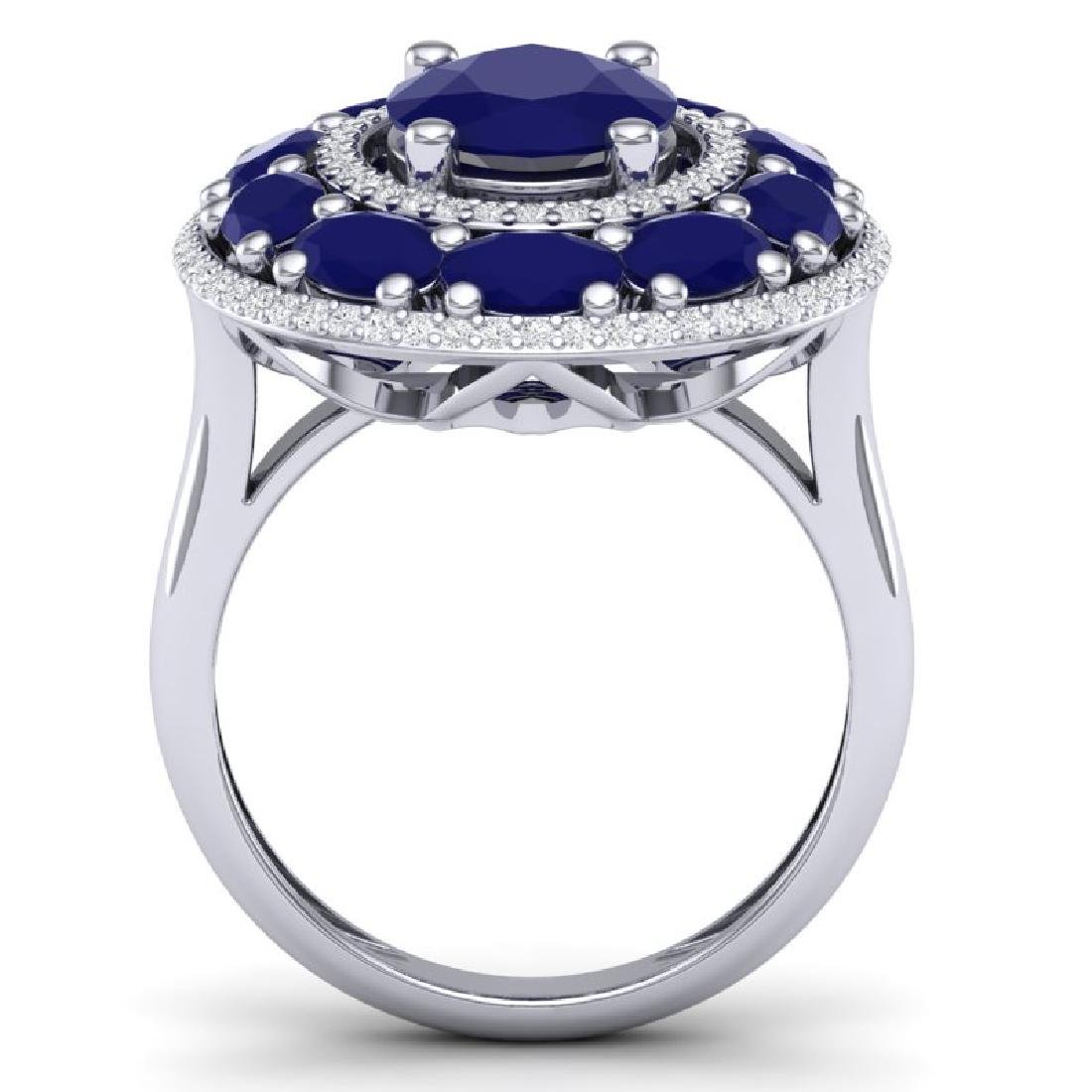 8.05 CTW Royalty Designer Sapphire & VS Diamond Ring - 3