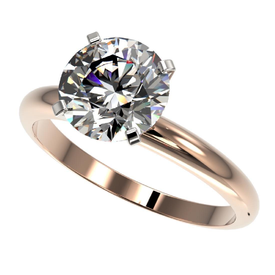 2.50 CTW Certified G-SI Diamond Engagement Ring 10K