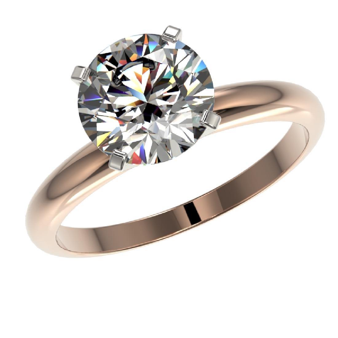 2.50 CTW Certified G-SI Diamond Engagement Ring 10K - 2