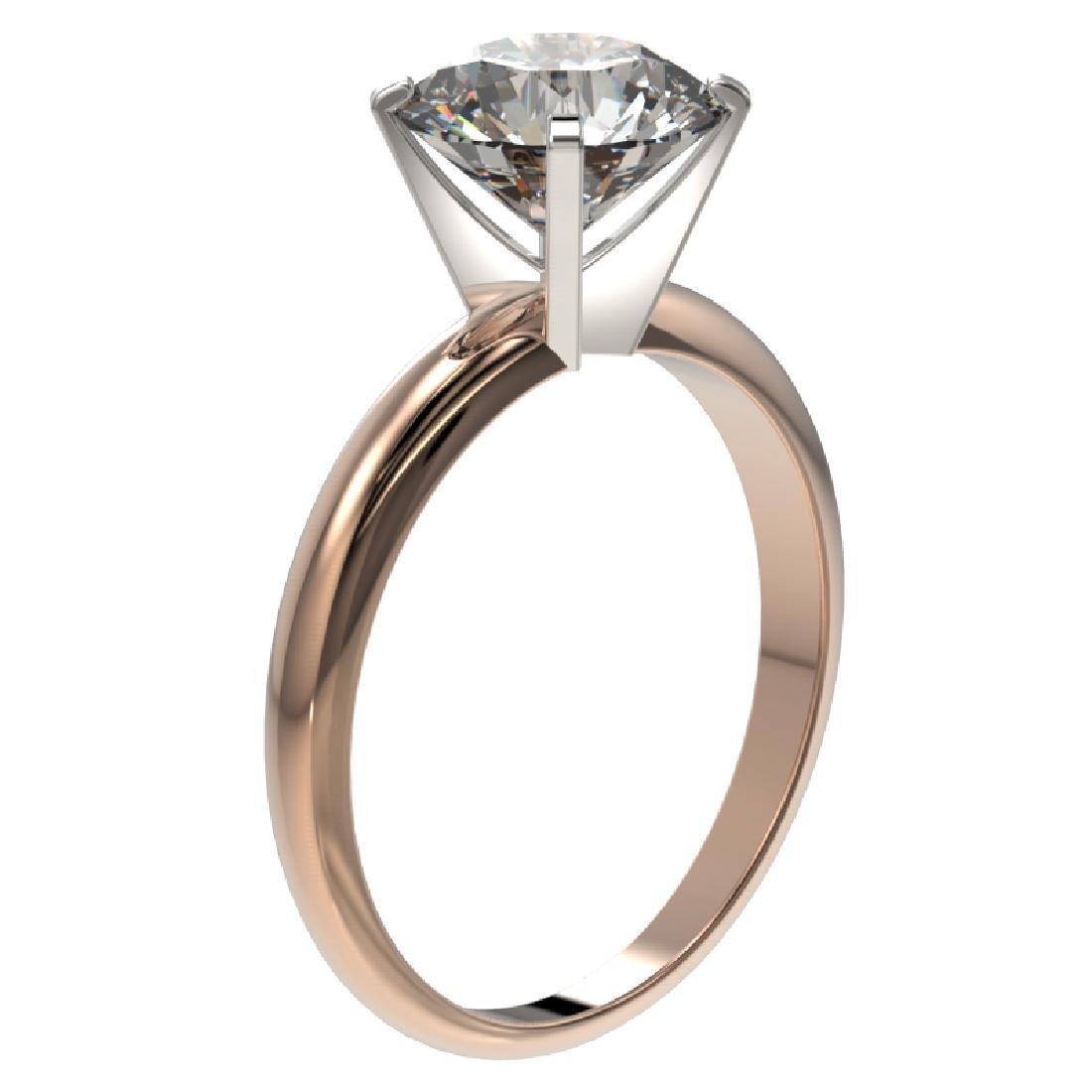 2.50 CTW Certified G-SI Diamond Engagement Ring 10K - 3