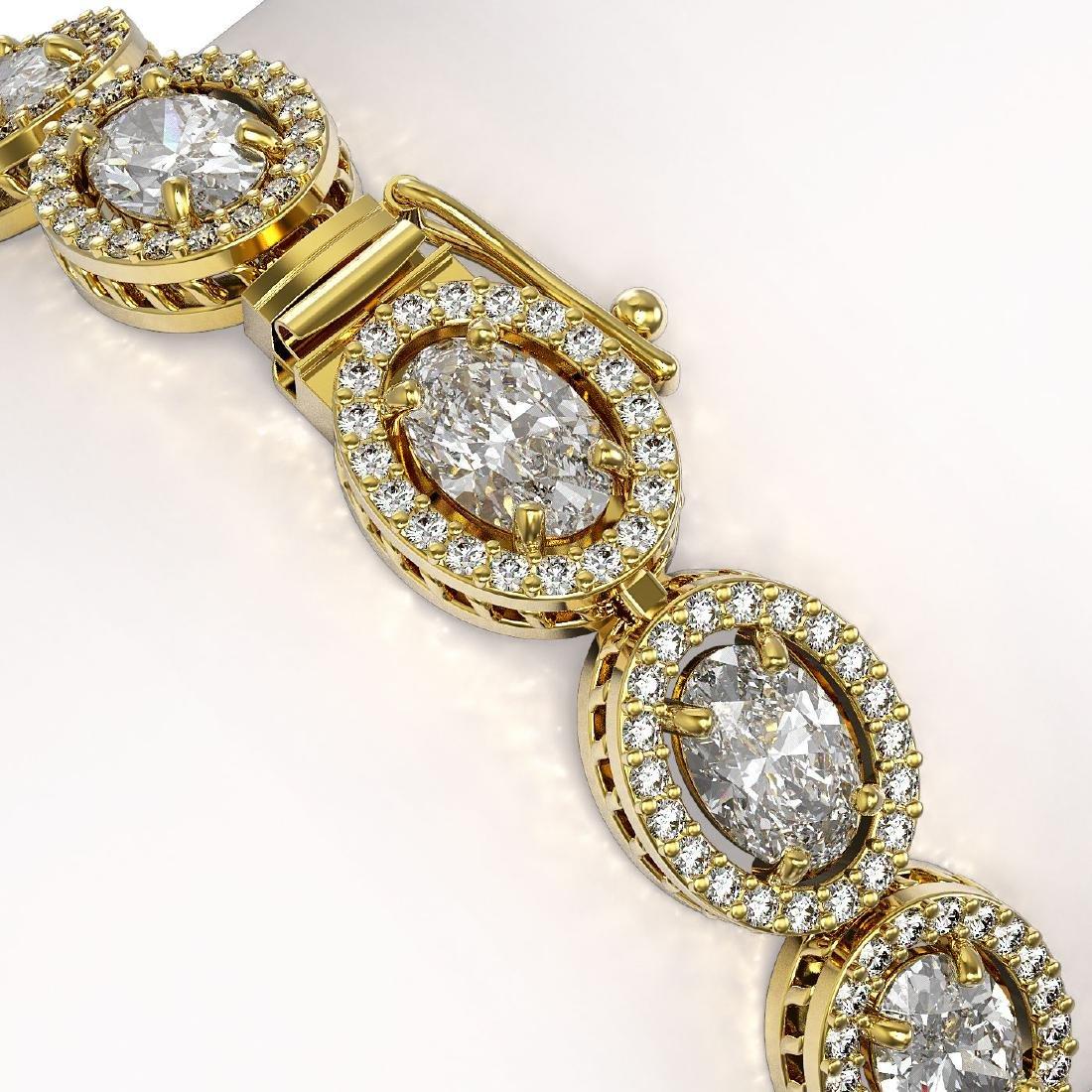 15.20 CTW Oval Diamond Designer Bracelet 18K Yellow - 3