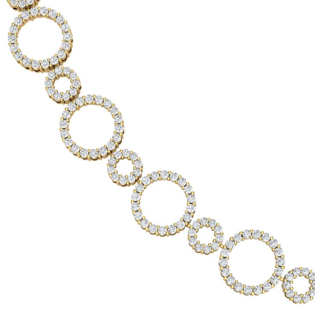 10 CTW Certified SI/I Diamond Halo Necklace 18K Yellow - 2