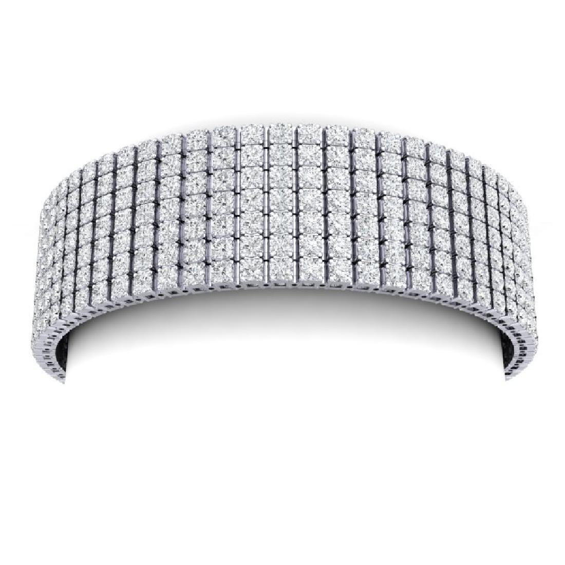 33 CTW Certified VS/SI Diamond Unisex 8 Inches Bracelet - 2
