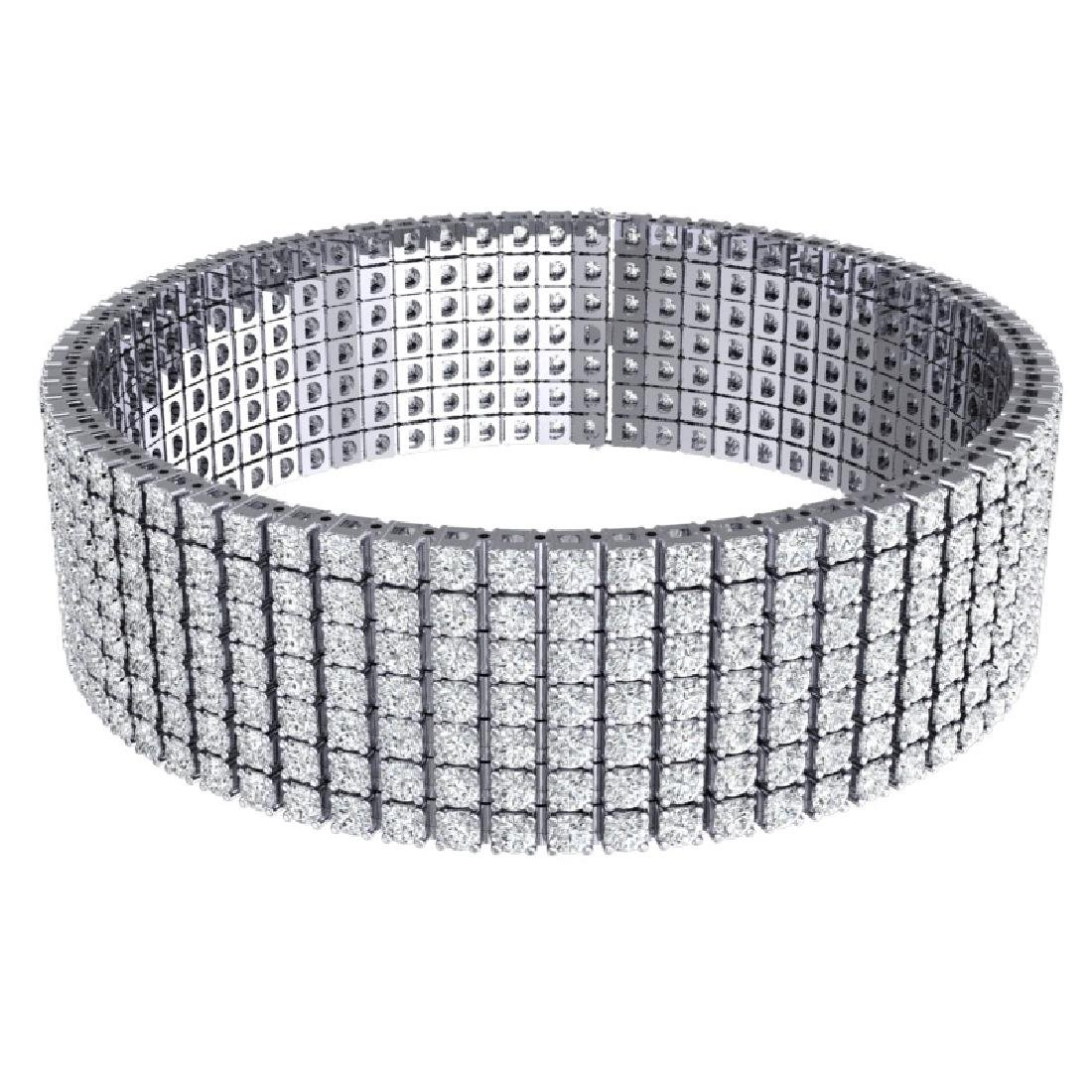 33 CTW Certified VS/SI Diamond Unisex 8 Inches Bracelet - 3