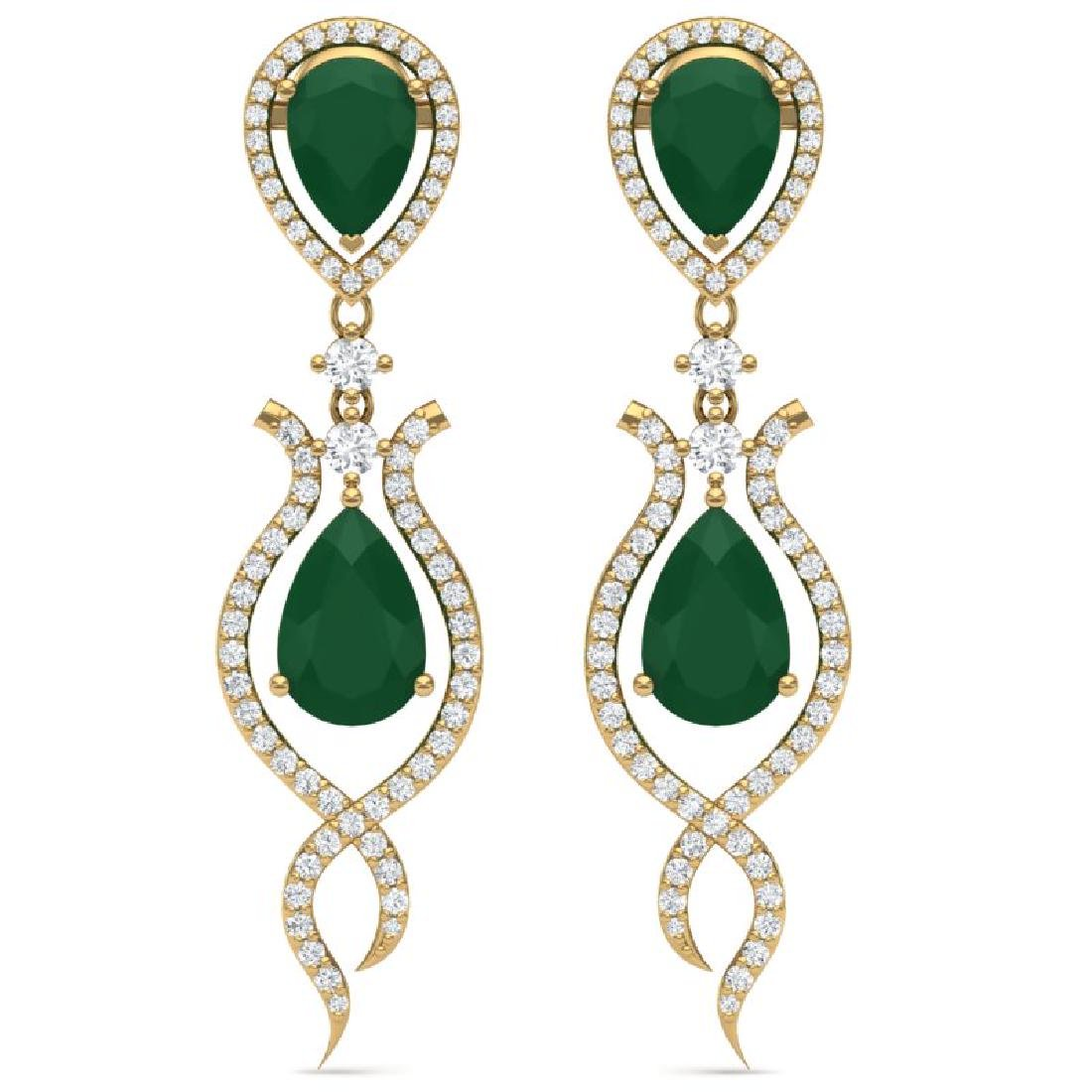 16.57 CTW Royalty Emerald & VS Diamond Earrings 18K