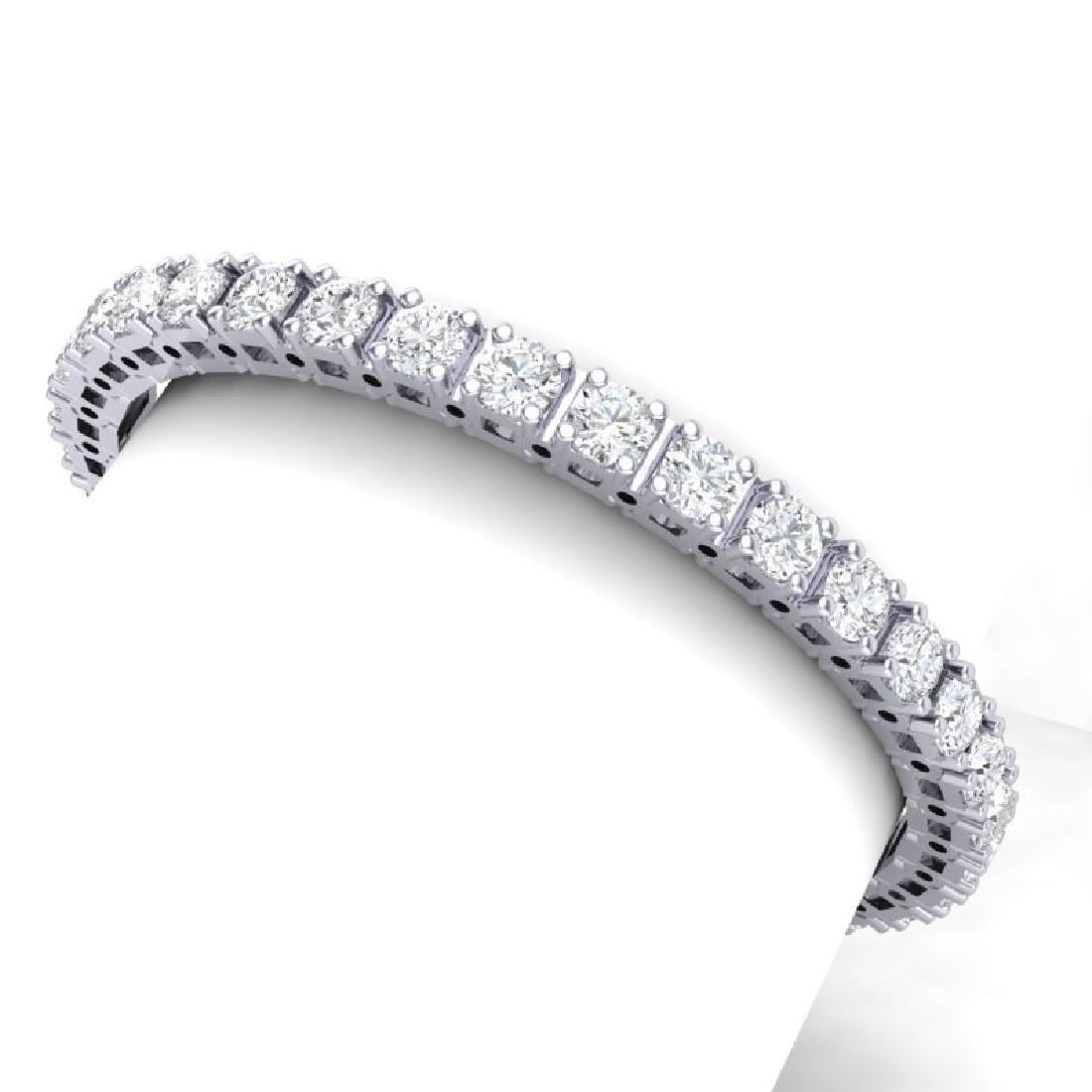 20 CTW Certified SI Diamond Bracelet 18K White Gold