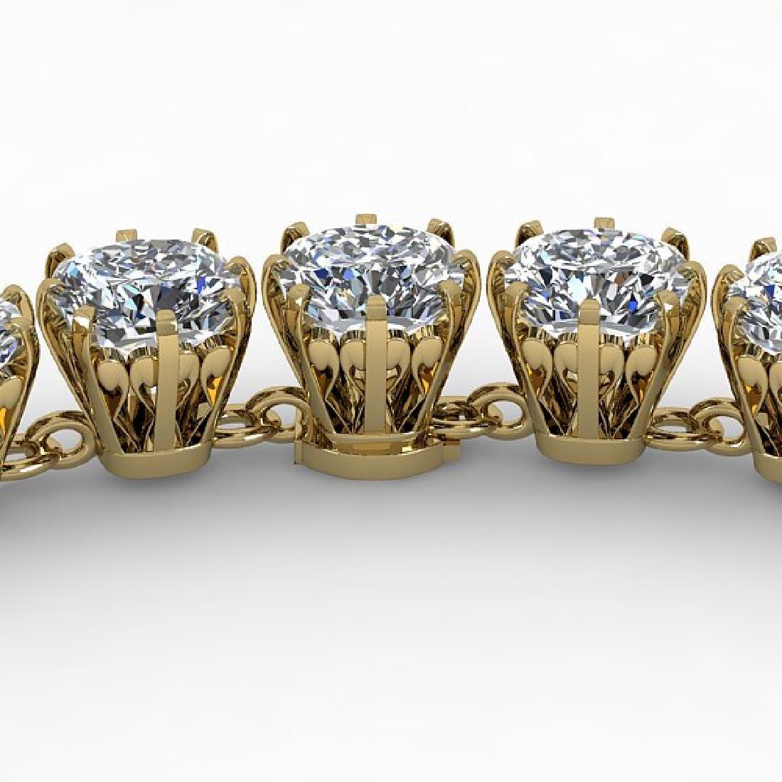 28 CTW Oval Cut SI Certified Diamond Necklace 18K