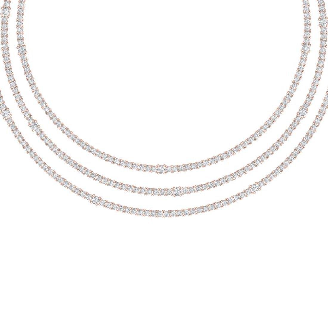 30 CTW Certified VS/SI Diamond Love Necklace 18K Rose