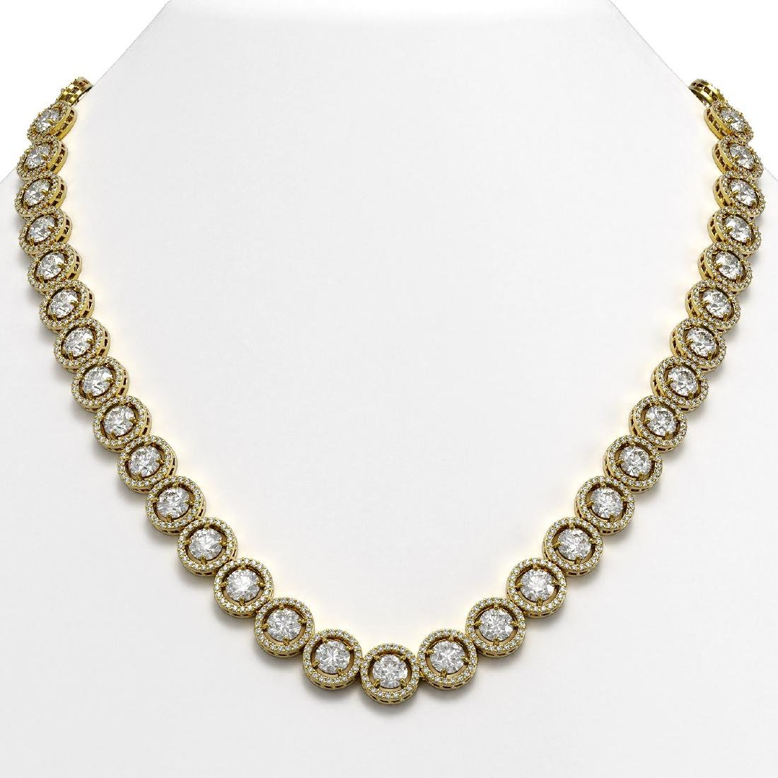 35.32 CTW Diamond Designer Necklace 18K Yellow Gold