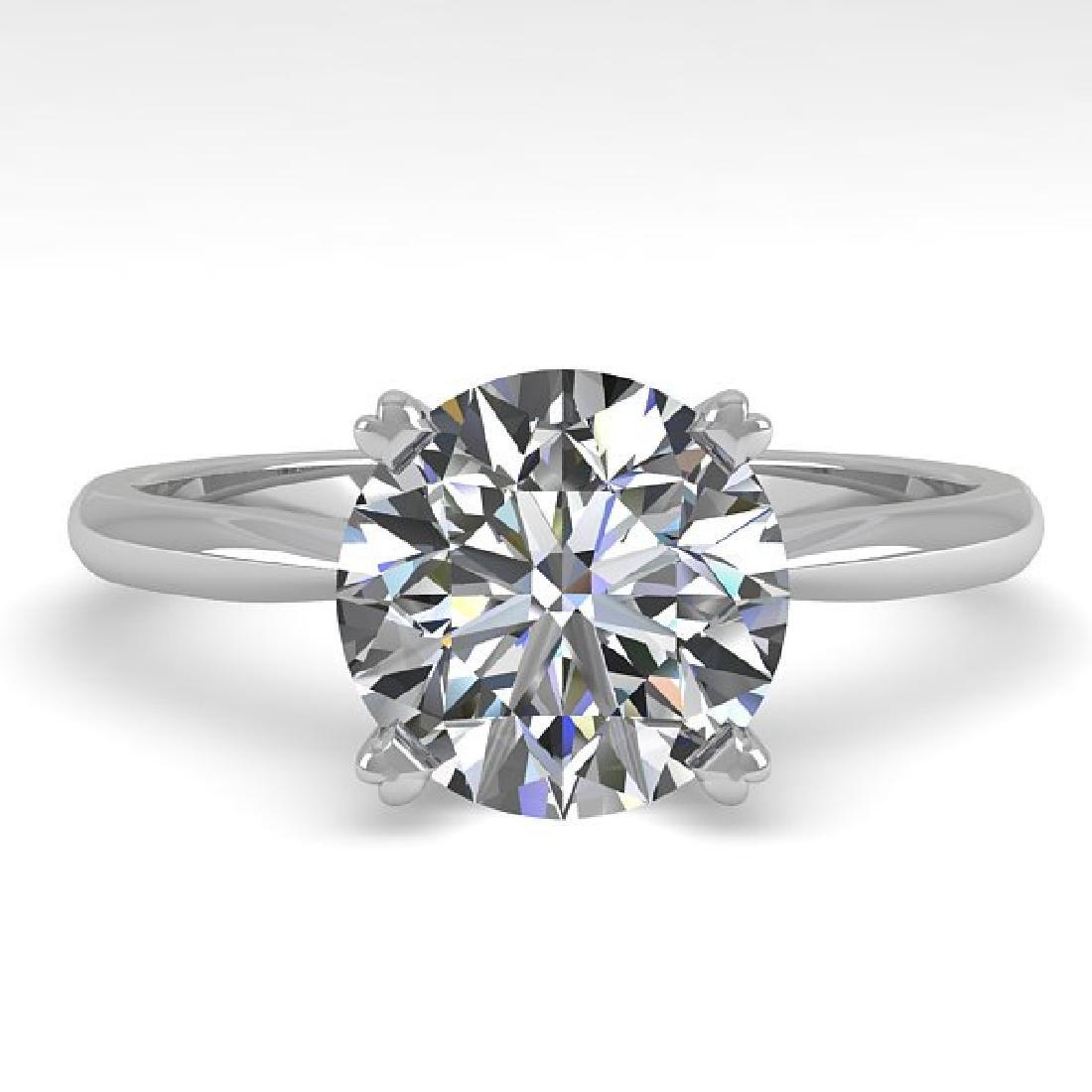 2 CTW Certified VS/SI Diamond Engagement Ring 18K White