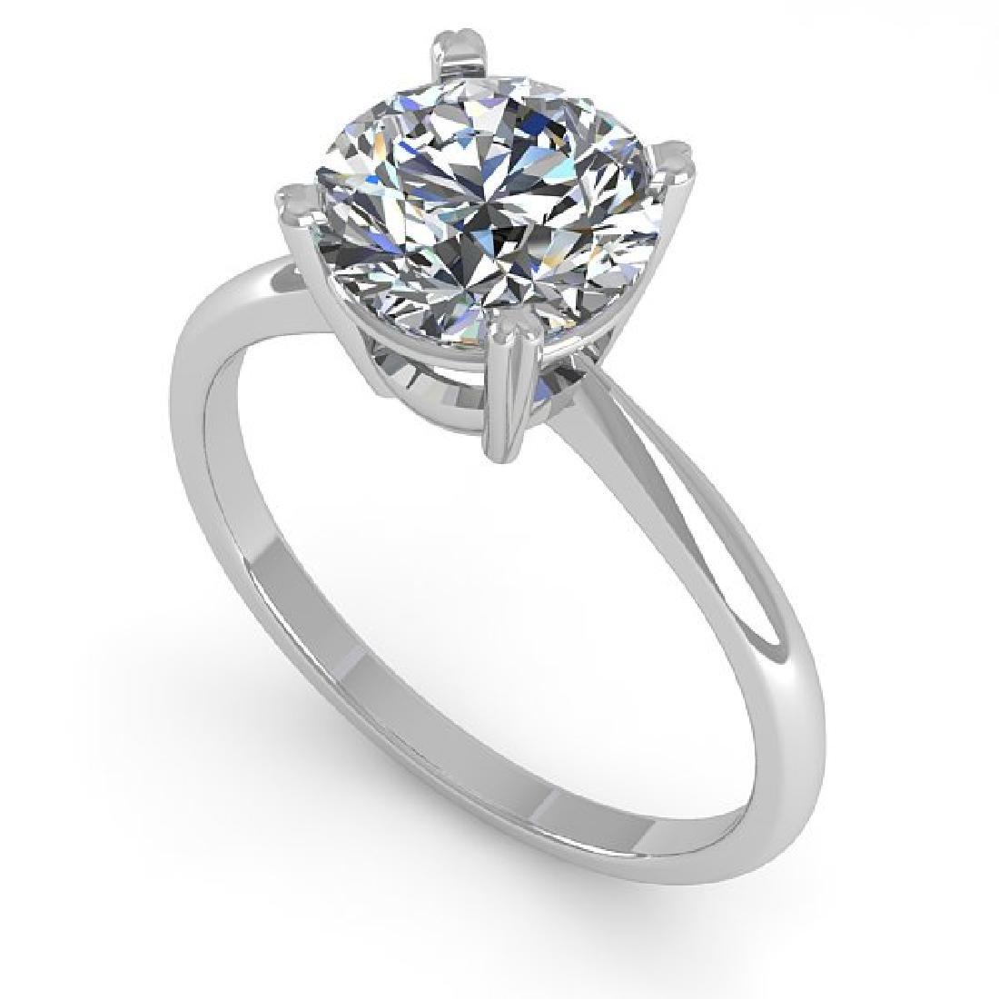 2 CTW Certified VS/SI Diamond Engagement Ring 18K White - 2
