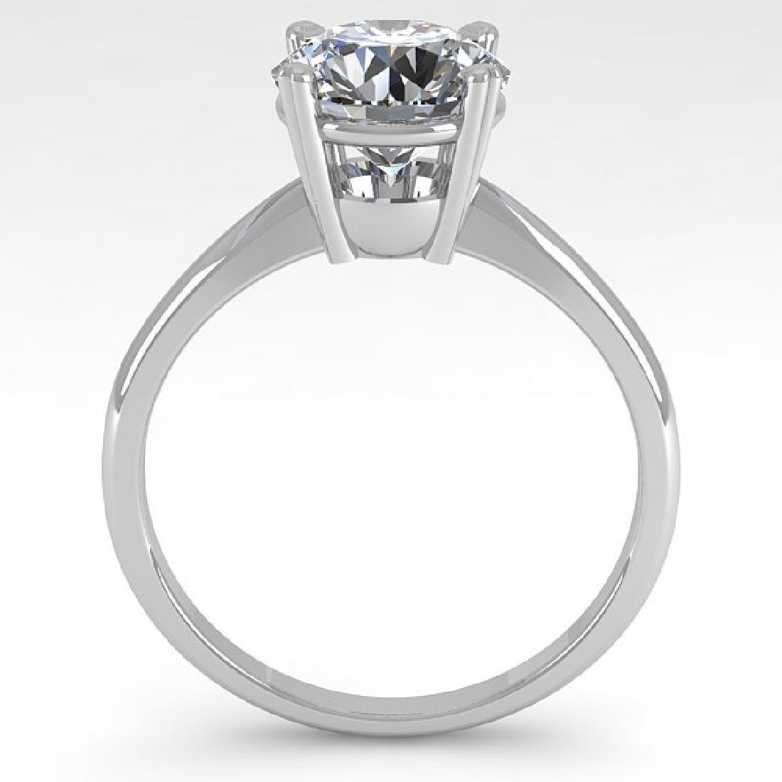 2 CTW Certified VS/SI Diamond Engagement Ring 18K White - 3