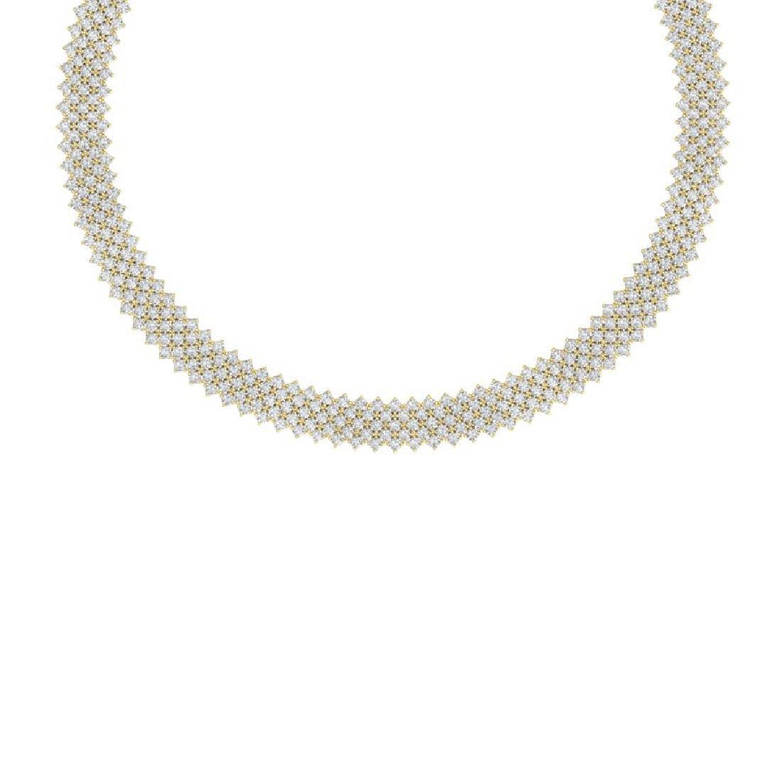 40 CTW Certified VS/SI Diamond Necklace 18K Yellow Gold