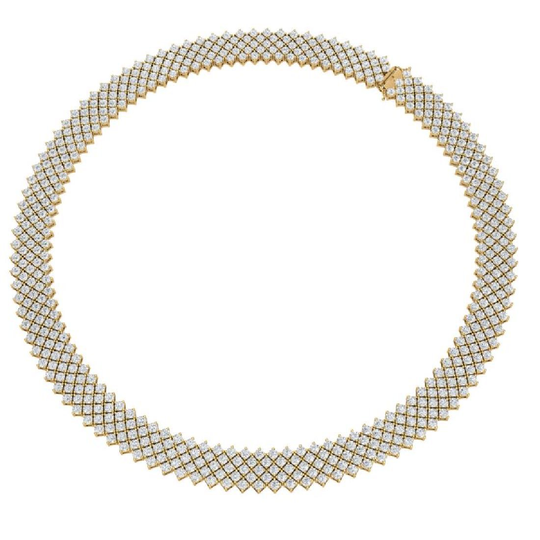 40 CTW Certified VS/SI Diamond Necklace 18K Yellow Gold - 2